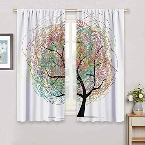 Tree of Life Decor Collection Blackout Curtain Panels Window