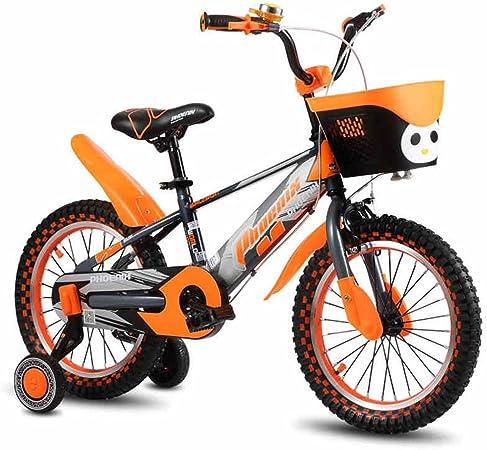 XQ TR-953 Bicicleta Para Niños De Color Naranja Para Niños Bicicleta Para Niños De 3-13 Años De Edad Estancia De Seguridad Para Princesas De Pequeña Princesa (Tamaño ...