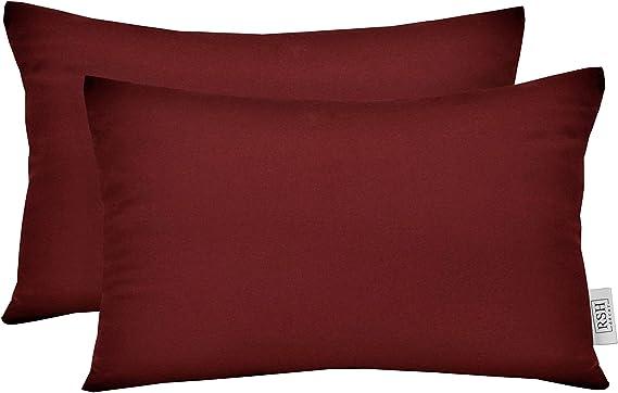 Indoor ~ Outdoor Decorative Flange Lumbar Rectangle Throw Pillow made of Sunbrella Canvas Buttercup