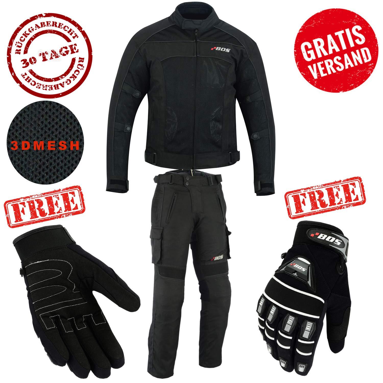 2XL, Wei/ß Hosen Motorradkombi Biker Motorrad Textil Kombi wasserdichte Jacke