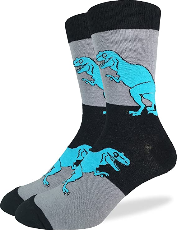 Boy/'s T-REX Crew Socks-Perfect gift for boys who love dinosaurs-Shoe Size 7.5-13