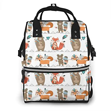 Travel Nappy Pouch Small Baby Changing Bag Woodland Animal Design