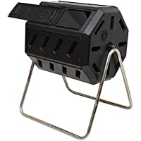 Forest City Models & Patterns Inc Dual Chamber 37-Gl Tumbling Composter (Black)