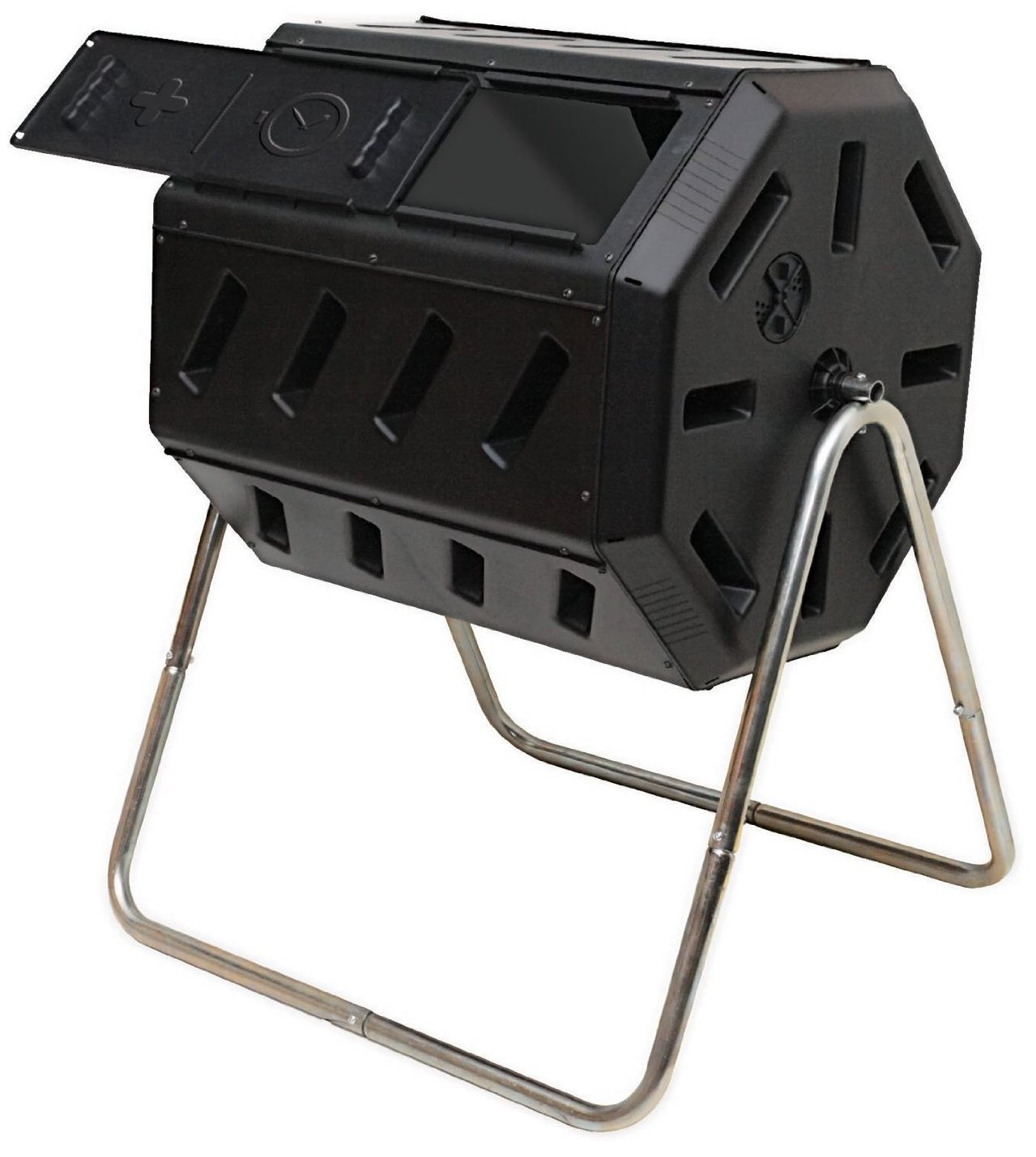 FCMP Outdoor IM4000 Tumbling Composter, 37 gallon Black