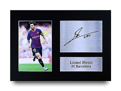 HWC Trading Lionel Messi A4 Sin Marco Regalo De Visualización De ...