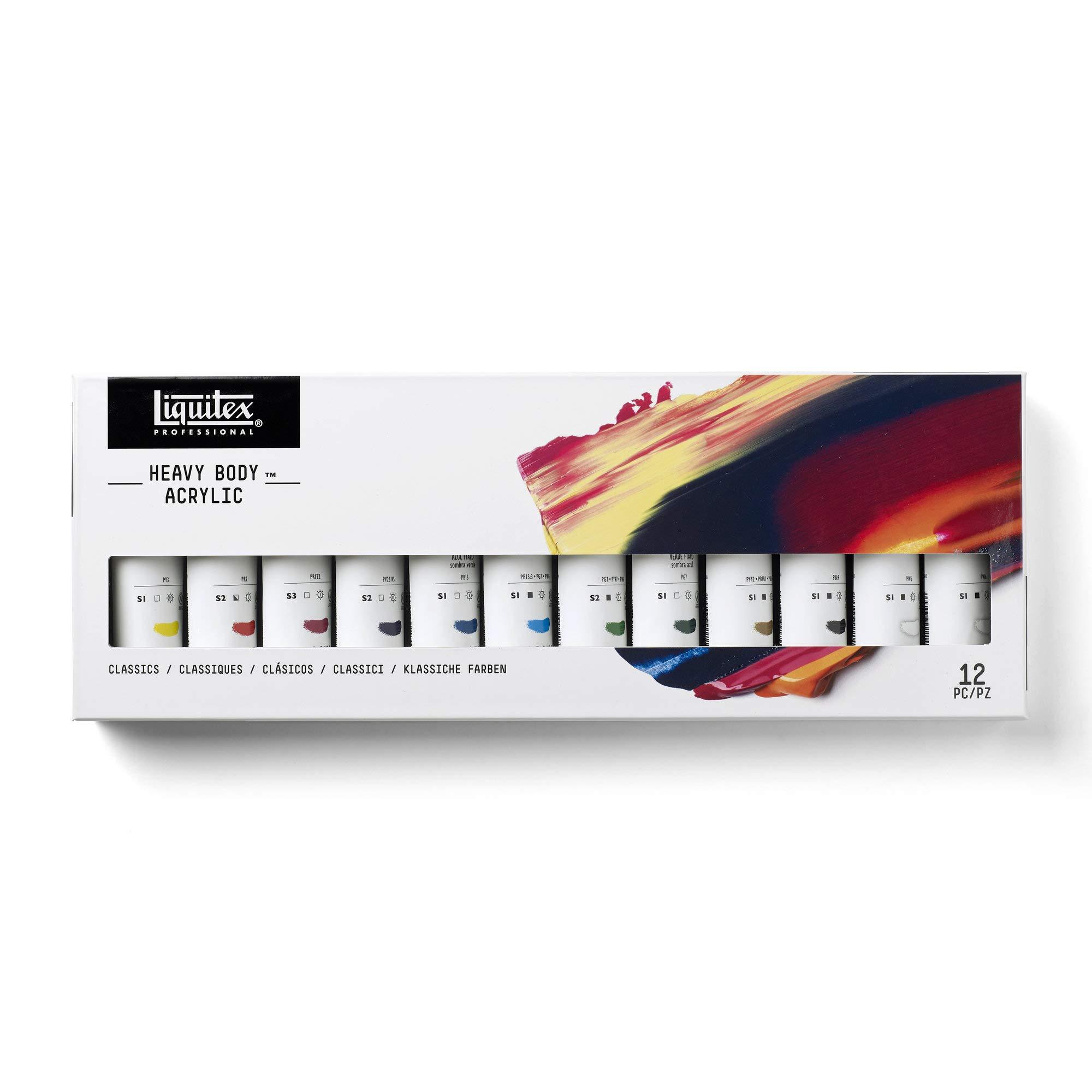 Liquitex Professional Heavy Body Acrylic Paint Classic Set, 12 Colors by Liquitex
