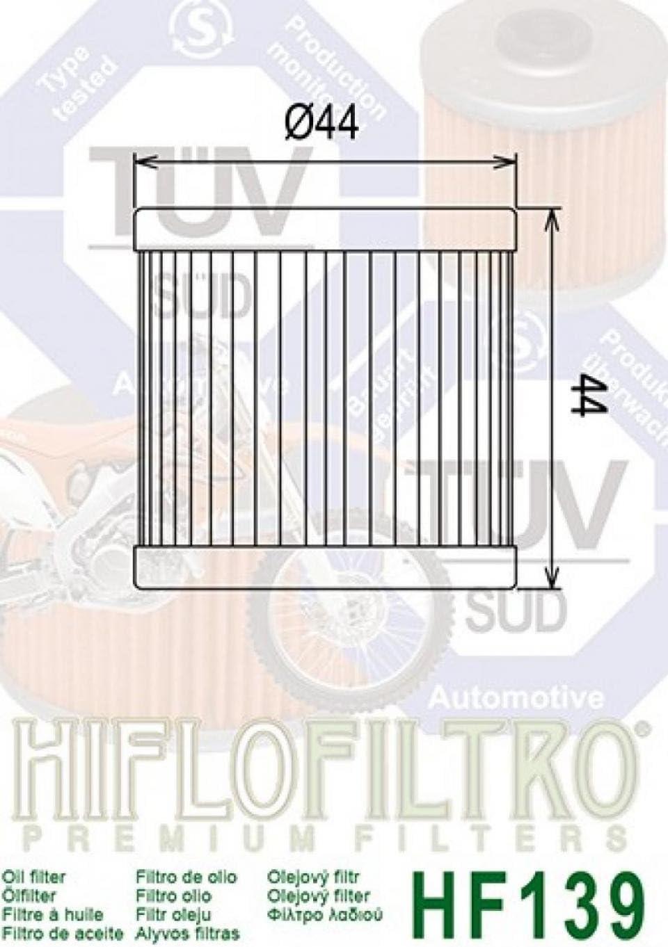 Hiflofiltro 18725 Filtro Aceite Moto Hf139