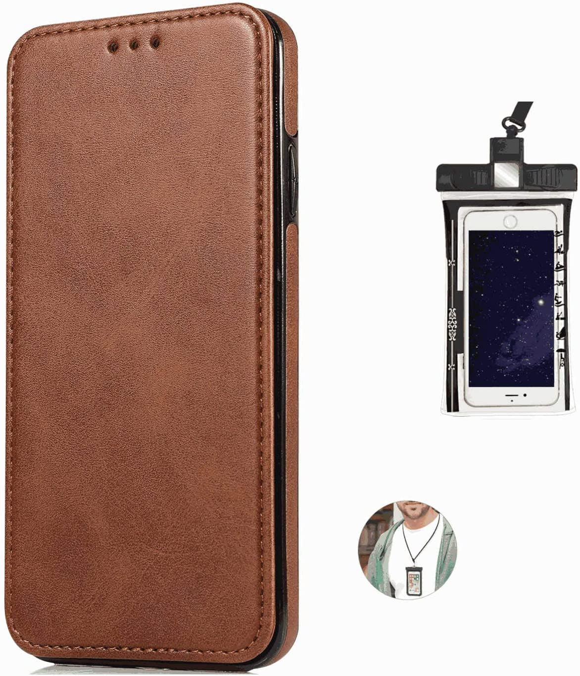 耐汚れ 耐摩擦 Samsung Galaxy S10 PLUS ケース 手帳型 本革 レザー カバー 財布型 スタンド機能 カードポケット 耐摩擦 全面保護 人気 アイフォン[無料付防水ポーチケース]