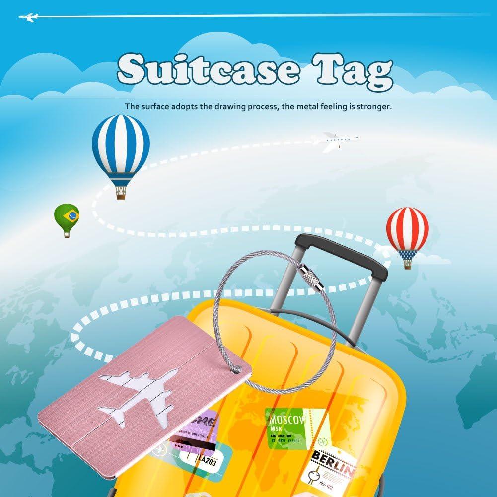 Keenso 5pcs /étiquette de Bagage Bagage de Valise tag didentit/é en Alliage daluminium Alliage daluminium Carte didentit/é pour Voyage