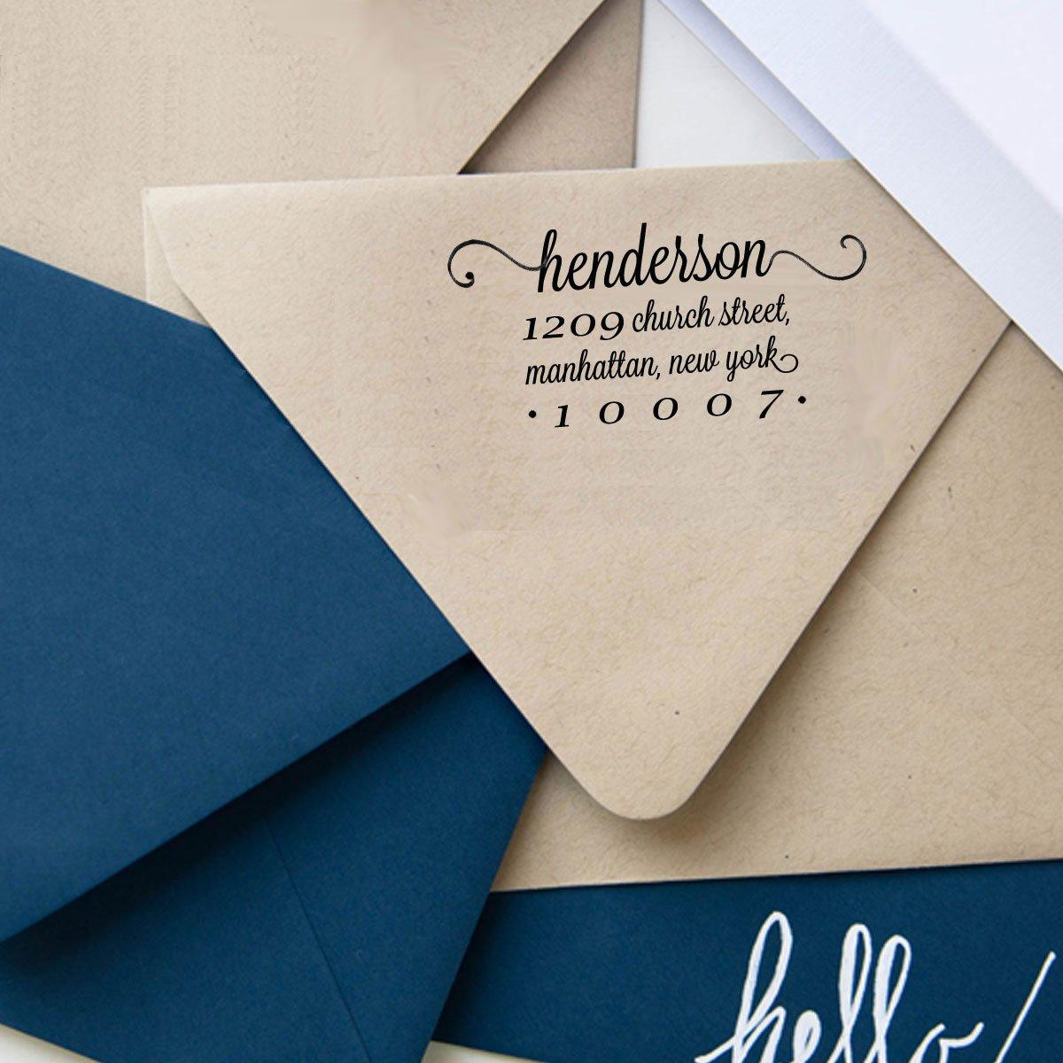 Amazon.com : Calligraphy Return Address Stamp Self Inking ...
