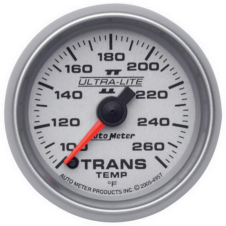 Auto Meter 4957 Ultra-Lite II 2-1/16'' 100-260 F Full Sweep Electric Transmission Temperature Gauge