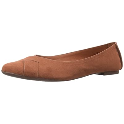 BC Footwear Women's Petite V-Suede Ballet Flat | Flats