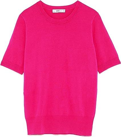 Zara - Camisas - para mujer Rosa rosa X-Large: Amazon.es ...