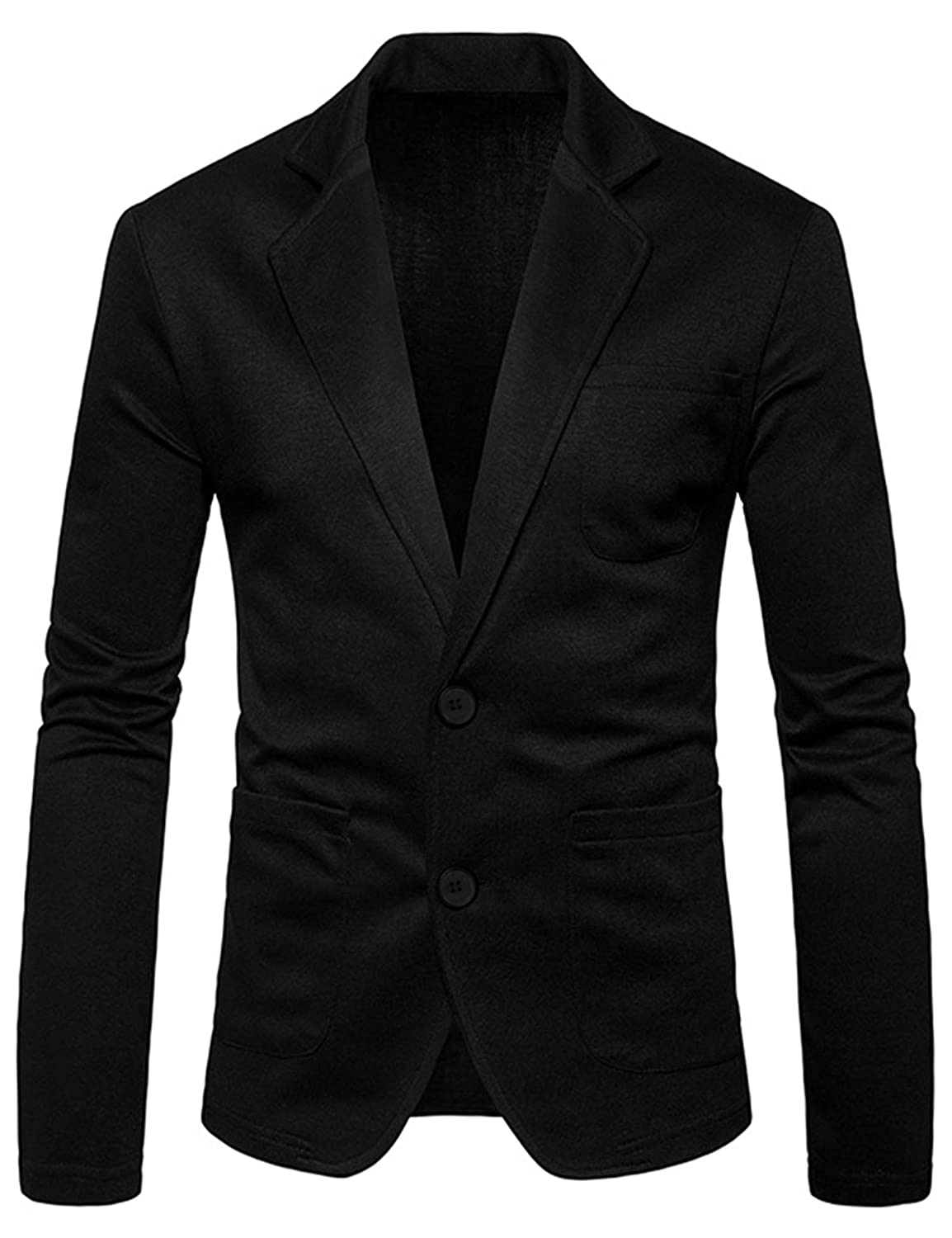 4910092a836e60 COOFANDY Mens Cotton Casual Two Button Lapel Blazer Jacket Lightweight  Sport Coat at Amazon Men's Clothing store: