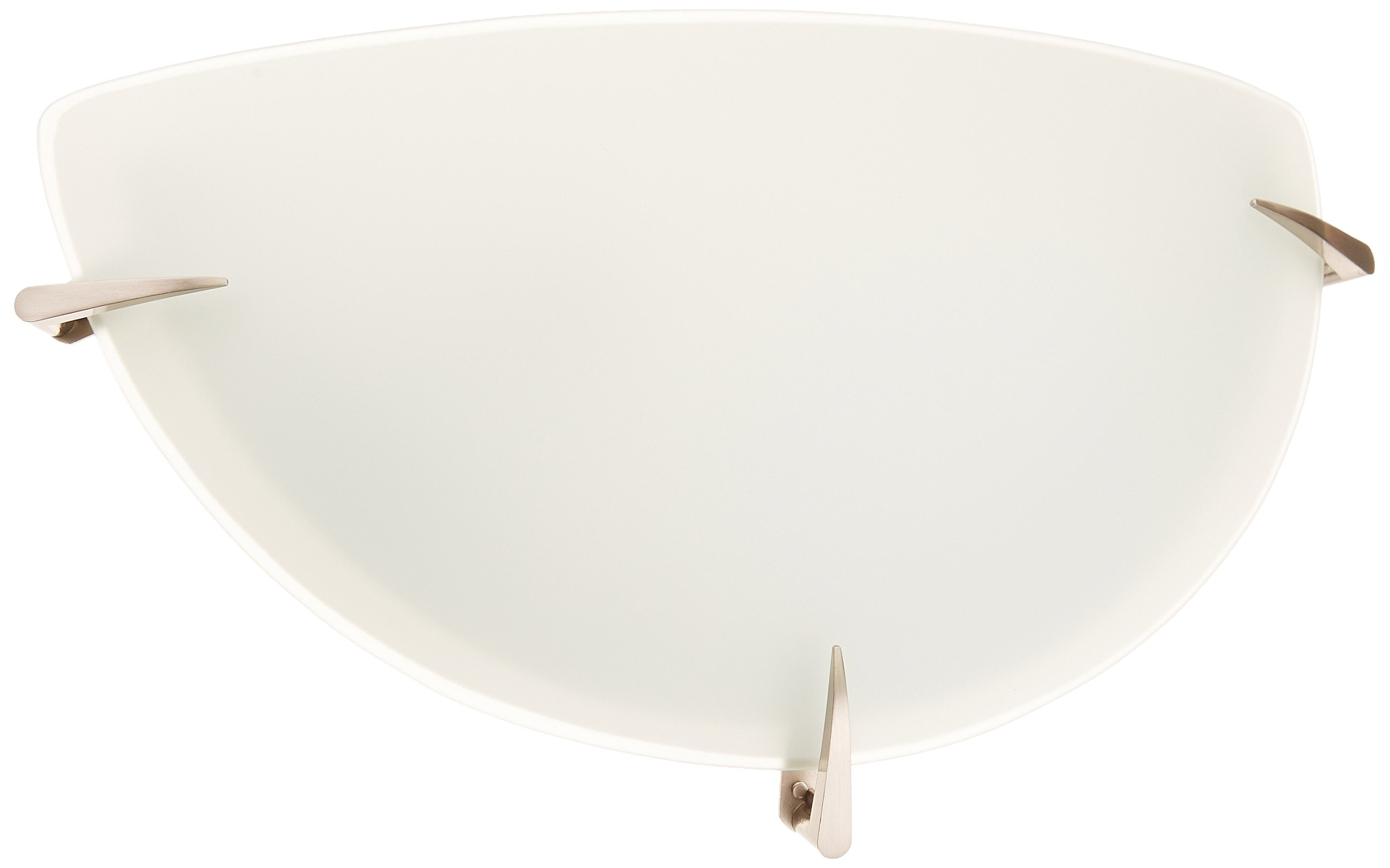 Lite Source LS-1338PS/FRO Wall Sconce with Frosted Glass Shades, Steel Finish