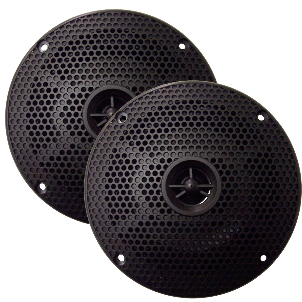 Seaworthy SEA5582B SeaWorthy SEA5582B 5'' Round 2-Way Speakers - 75W - Black *Bulk Package*