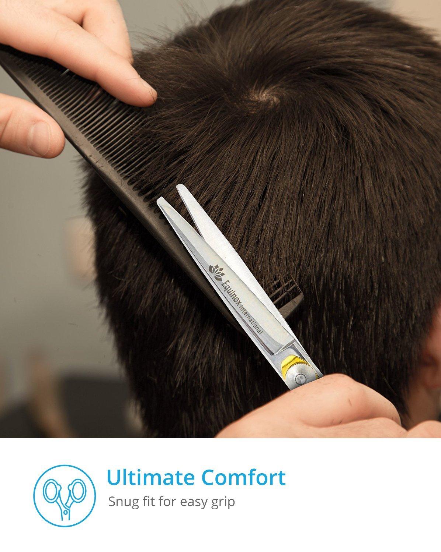 Equinox Professional Shears Razor Edge Series - Barber Hair Cutting Scissors/Shears - 6.5'' - Japanese Stainless Steel Hair Scissors – Mustache Scissors and Barber Scissors with Fine Adjustment Screw by Equinox International (Image #7)