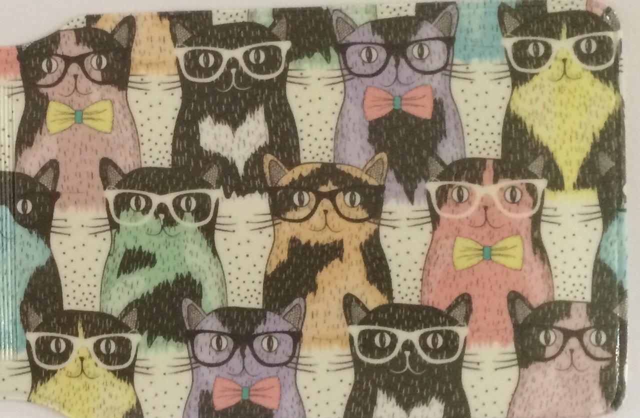 Geeky cat - Tarjetero, diseño de gatos