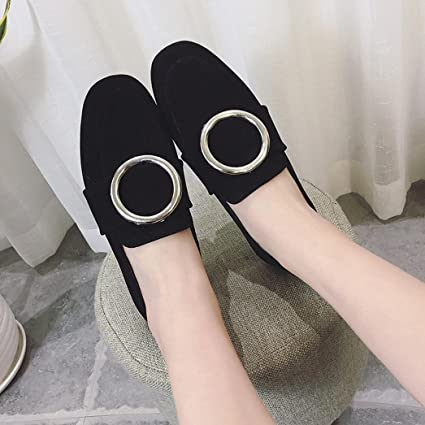 ed14b9b266e Image Unavailable. Image not available for. Color  Hemlock Flat Shoes Women  Boat Shoes Working Shoes Outdoor Sandals Soft Slip On Shoes (US