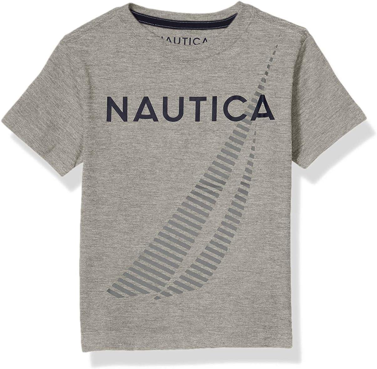 Nautica Boys Short Sleeve Screenprint Crew Neck T-Shirt