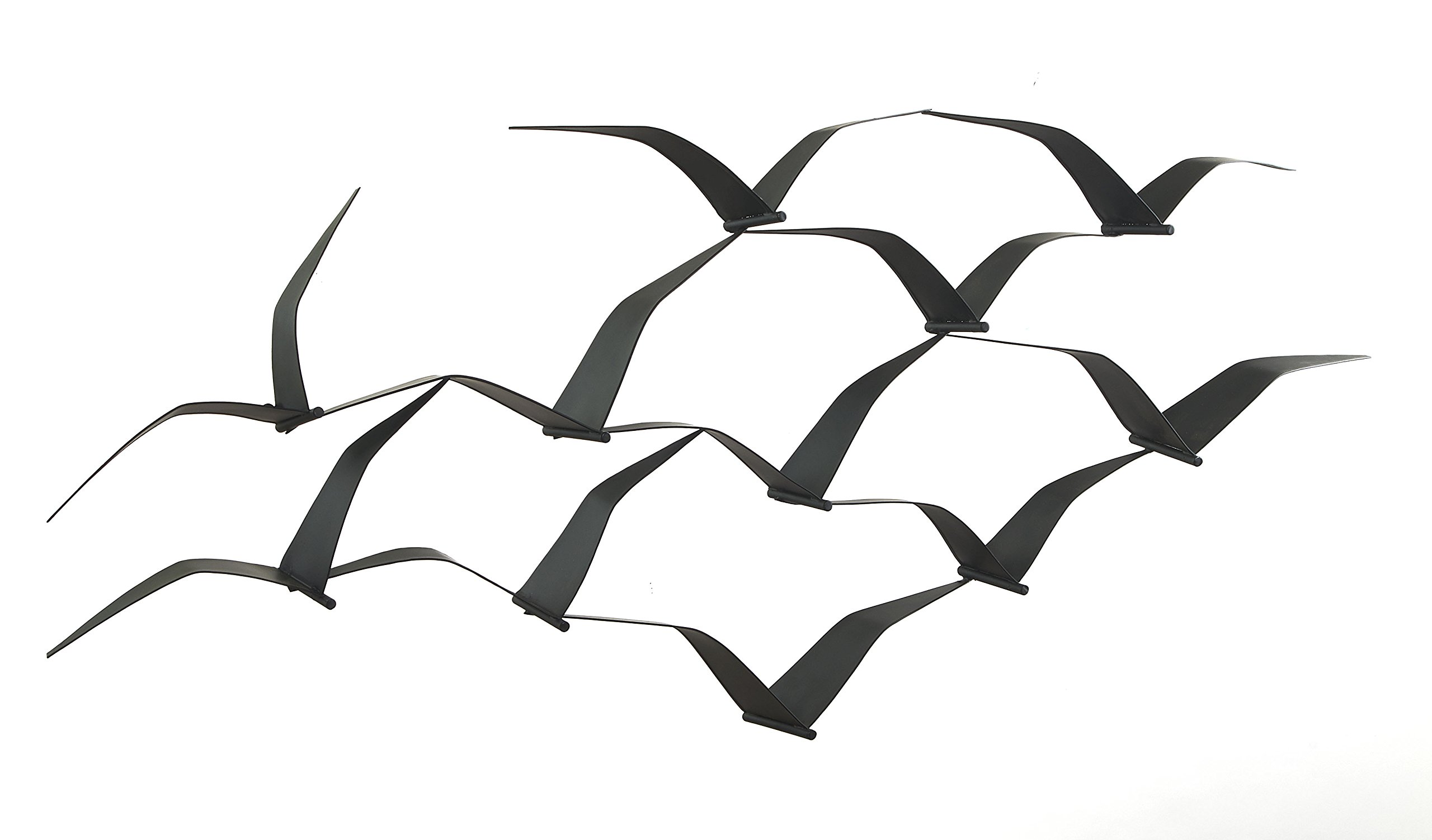 Fab Habitat Soaring Seagulls - Metal Wall Art
