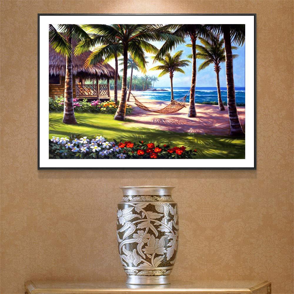 Orsit Bricolage 5D Diamond Kit de Peinture Puzzle,Full Diamond Broderie Point de Croix Arts Craft Supply pour la d/écoration Murale /à la Maison,Plage(12X16inch//30X40CM)
