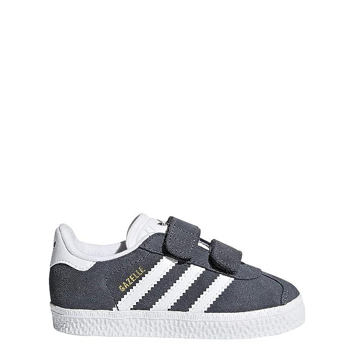 adidas Gazelle Sneakers Babyschuhe Unisex dunkelgrau mit weißen Streifen