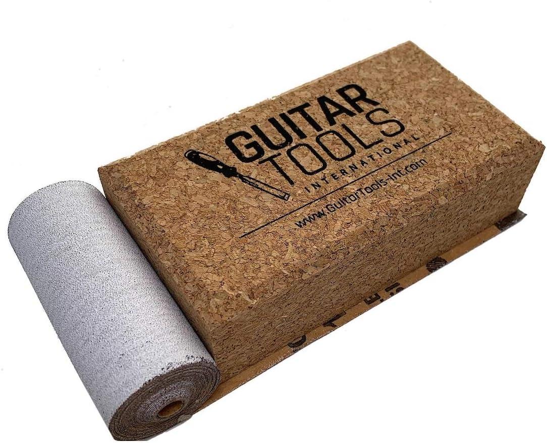 LCBS Bodies Furniture Flat Beveled Cork Sanding Block for Guitar Luthiers Files Bass Carpenter Wood Repair instruments Tool Guitar