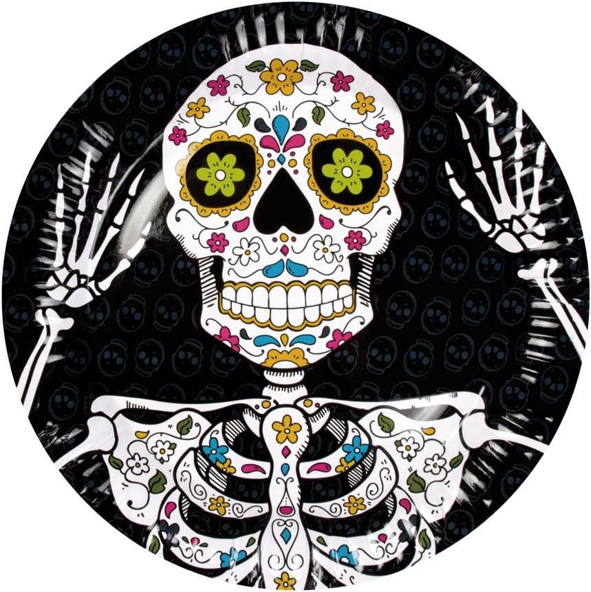 Motto-Party Einweg Party-Geschirr f/ür Halloween COM-FOUR/® 24-teiliges Set aus Becher und Teller Geburtstag 024-teiliges - Geschirrset