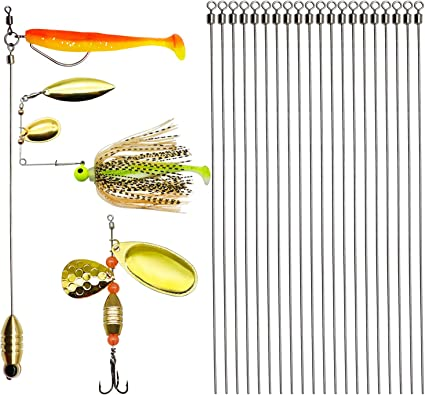 Stainless Steel Fish Hook 3 Pcs Rigs Swivel Fishing Tackle Lures Bait Explosion