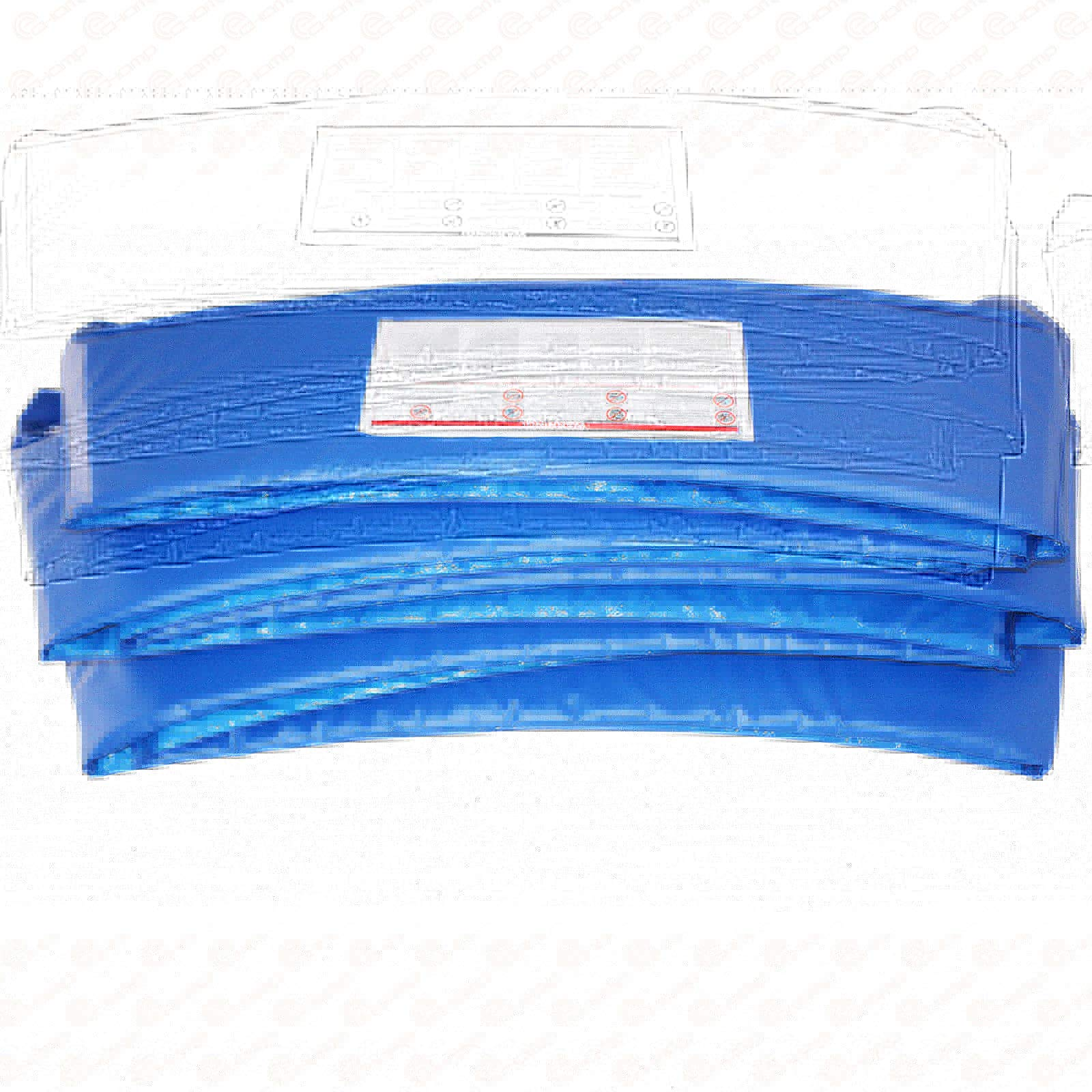Rimdoc 12/14/15FT Trampoline Pad, PVC Trampoline Replacement Safety Pad,Waterproof Surround Edge Cover,Foam Round Frame Pad (Blue, 12FT)