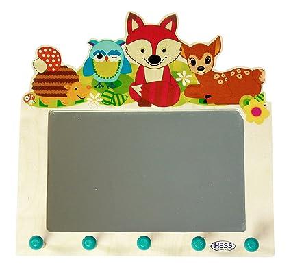 Hess 30501 - Perchero de madera con espejo, animales del ...