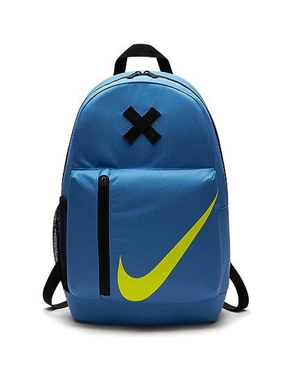 Nike Y Nk Elmntl Mochila, Sin género, Negro/Azul (Star Blue)