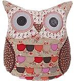 Kissen Patchwork Eule Owl grün mit Füllung 35x35x9cm