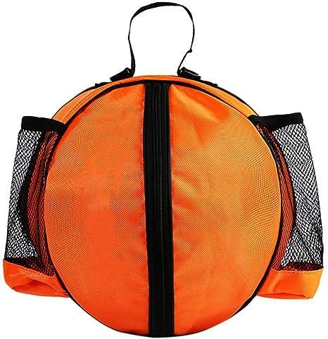 SHEDEU Bolso de balón de baloncesto con forma redonda, mochila de ...