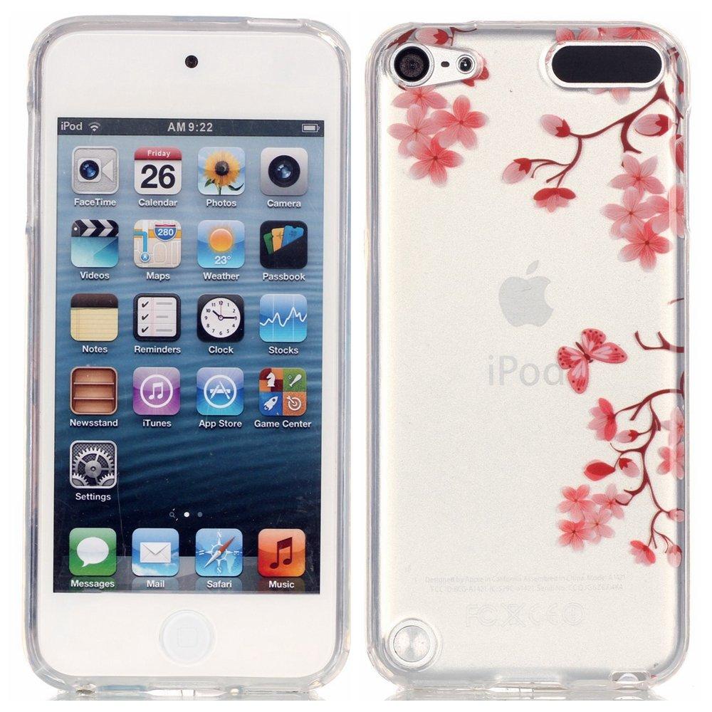 bf074c46ba Amazon | iPod Touch 5 / 6 カバー, YIGA ピンク 蝶 花 透明なケースシリコンソフトTPU高品質ケース 用 Apple iPod  Touch 5 / 6 | ケース オンライン通販