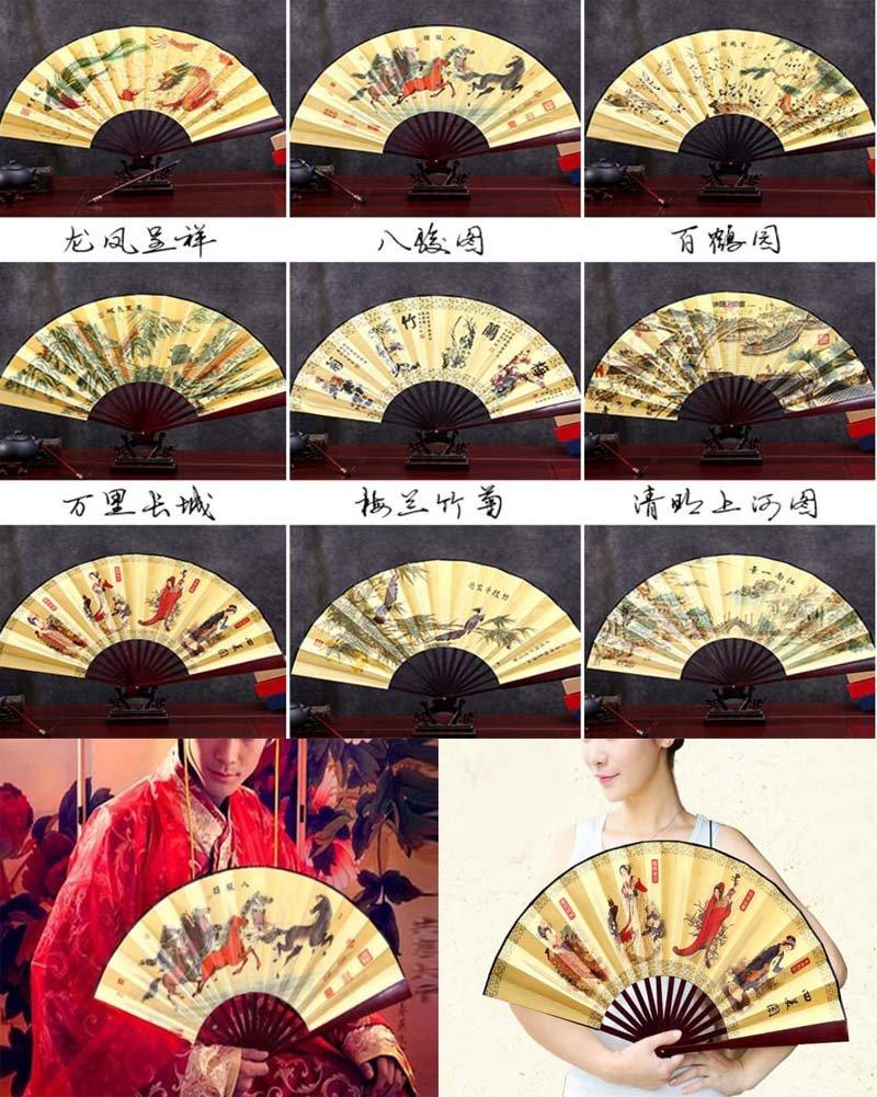 Ventilatore a mano in bamb/ù tradizionale cinese tradizionale pieghevole a mano R1
