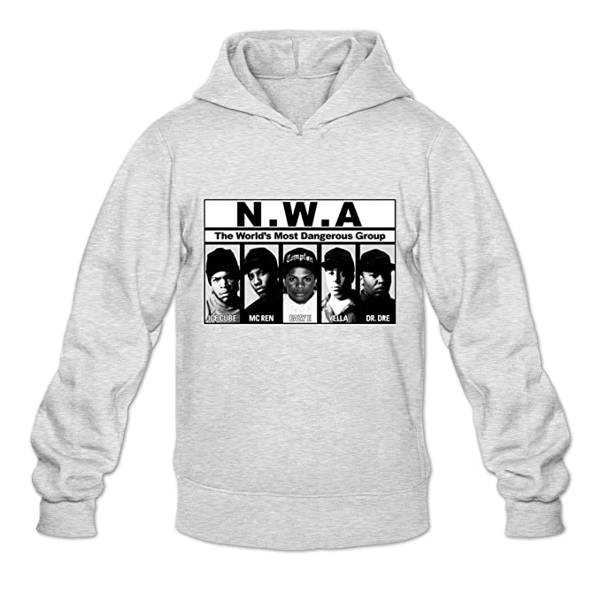 NWA 100% algodón Sudaderas con capucha para adultos Classic Sudaderas - Gris -: Amazon.es: Ropa y accesorios