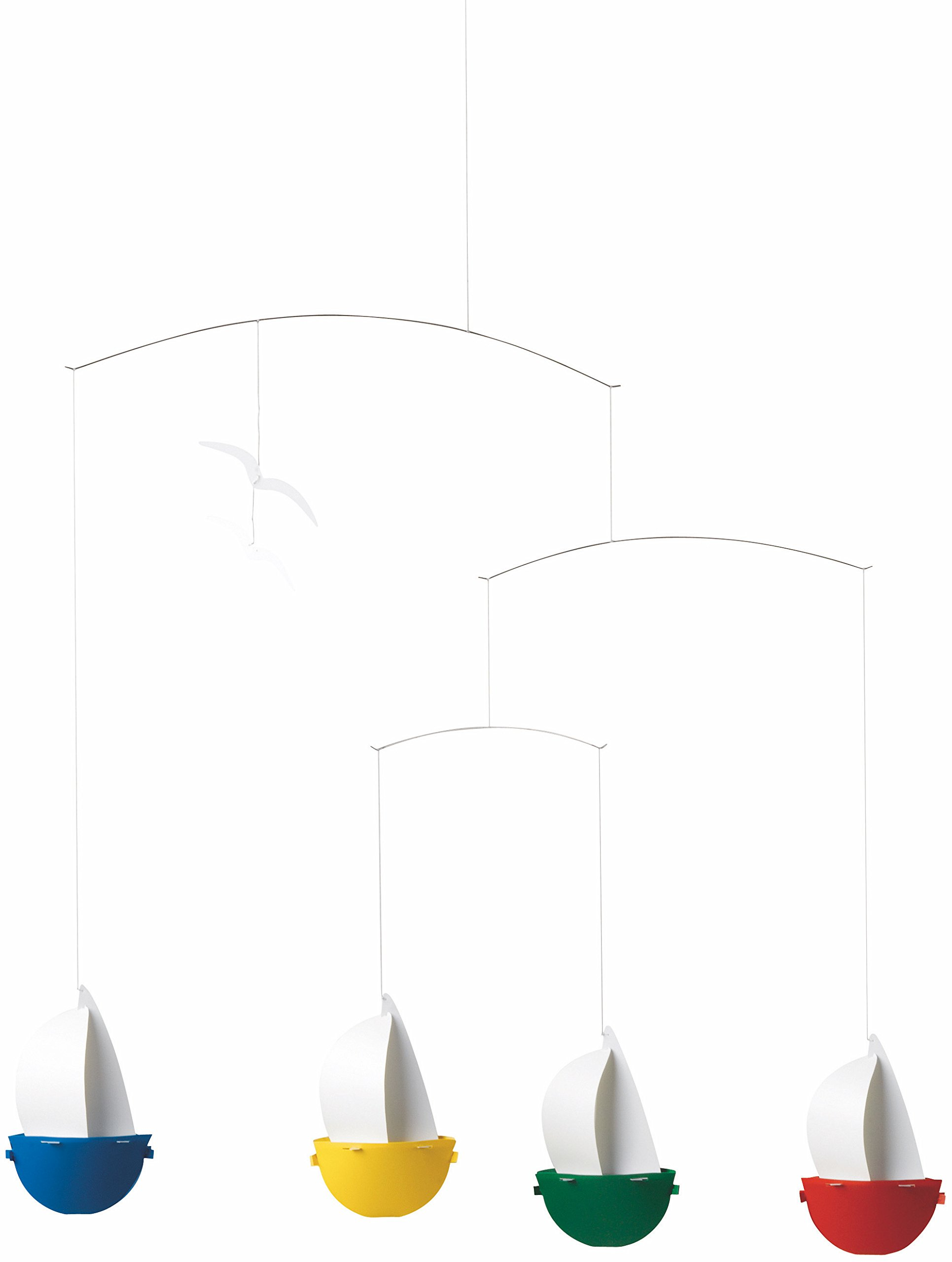 Flensted Mobiles Sailfun Hanging Nursery Mobile - 24 Inches Plastic
