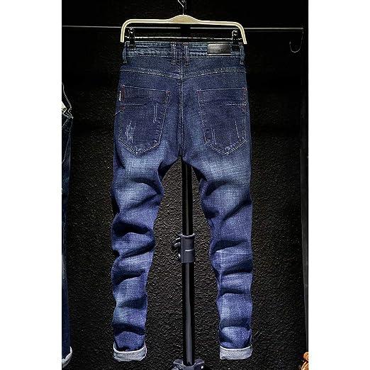Moda para Hombre Causal Pocket Zipper Slim Fit Color SóLido ...