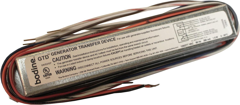Philips Bodine GTD Fluorescent Generator Transfer Bypass Device Elcu Ballast Emergency Lighting