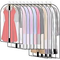 12 Stuks Kledingzak, ademende stof kleding zakken, transparant kledinghoes, kledingbescherming, beschermhoes voor…