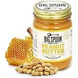 Big Spoon Roasters Peanut Butter w/ Wildflower Honey & Sea Salt - Raw Honey Peanut Butter - Creamy Peanut Butter w/ Organic Honey & Coconut Oil - Keto, Palm Free, Natural Peanut Butter - 13 Ounces