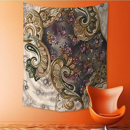 Tapiz de pared con diseño de flores, para colgar en la pared, para colgar a mano,
