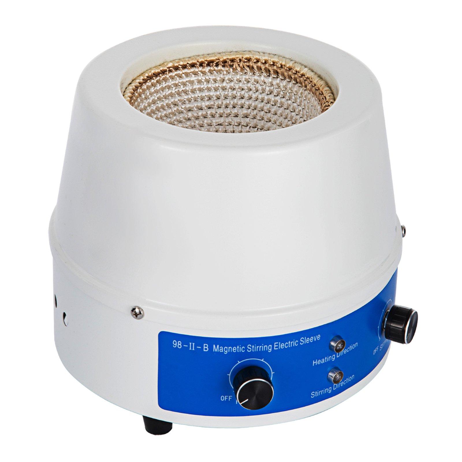 Geindus Stirring Heating Mantle 1000ml Heating Mantle Stirrer 0~1400 RPM 350W Magnetic Stirrer 380℃ (1000ml)