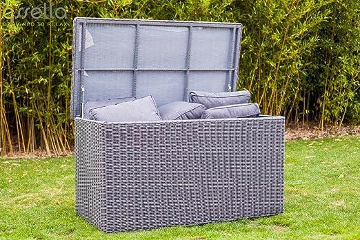 Essella Polyrattan Cojín Box XL en gris jaspeado: Amazon.es ...