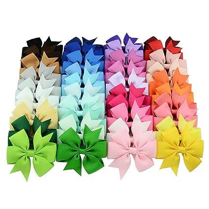 Huishunxin- Set de 40 lazos para el pelo f05639d5fb03
