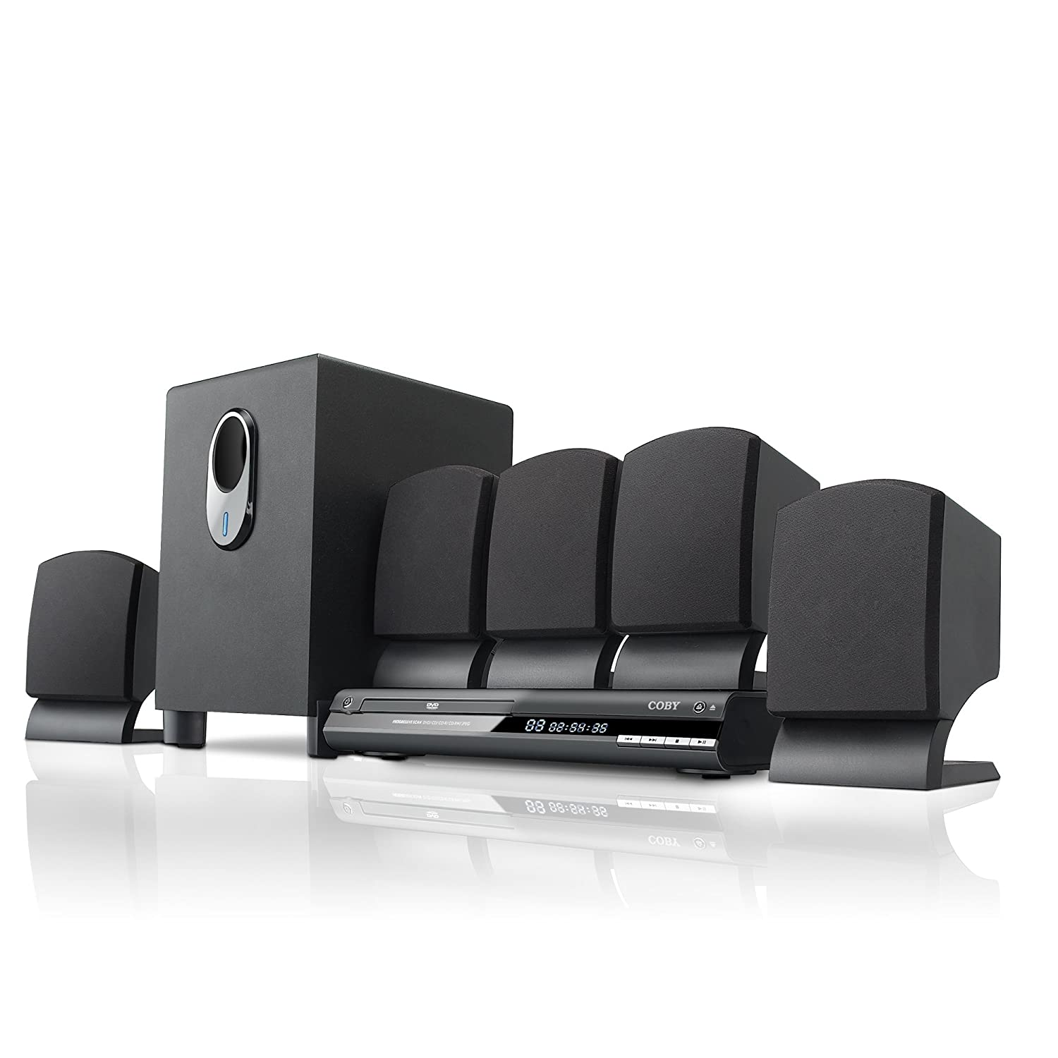 Amazon.com: Coby DVD765 5.1-Channel DVD Home Theater System (Black ...