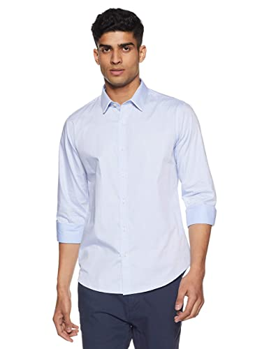 United Colors of Benetton Men's Plain Slim Fit Casual Shirt Casual Shirts at amazon