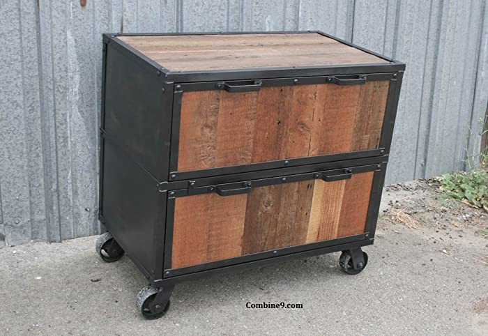 Merveilleux Industrial File Cabinet. Reclaimed Wood And Steel.